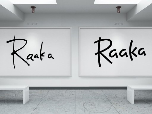 Before & after Raaka